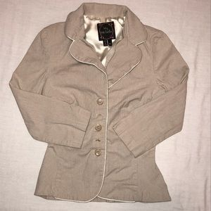 My Michelle tan stretch pinstriped jacket size 3/4